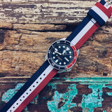 Original NATO Strap Red, White and Navy