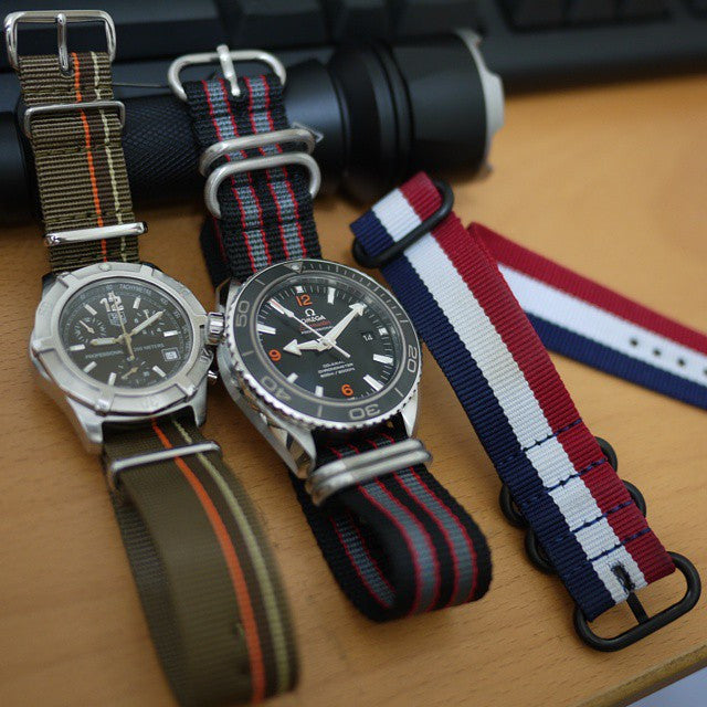 PVD Zulu Strap 5-ring Red, White and Navy - Cheapest NATO Straps  - 3