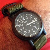 Extra Long PVD Zulu Strap 5-ring Khaki Green - Cheapest NATO Straps  - 11