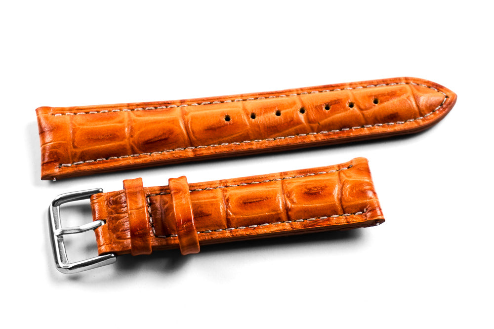Padded Classic Crocodile Tanned