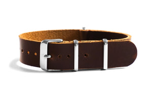 Leather NATO Strap Sienna
