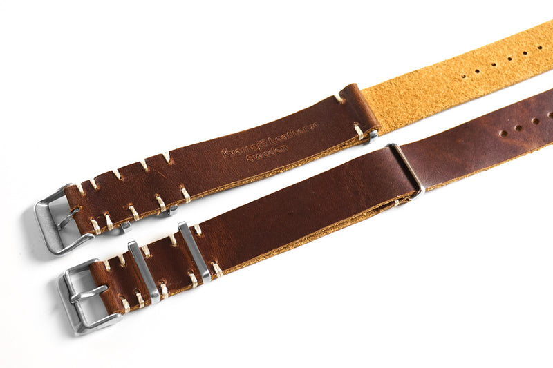 Kvarnsjö Vintage Leather NATO Sienna