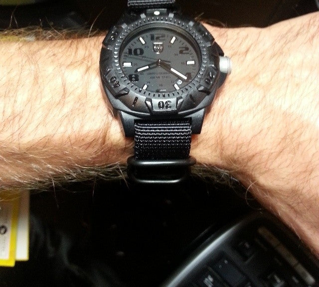 Extra Long PVD Zulu Strap 5-ring Black - Cheapest NATO Straps  - 8