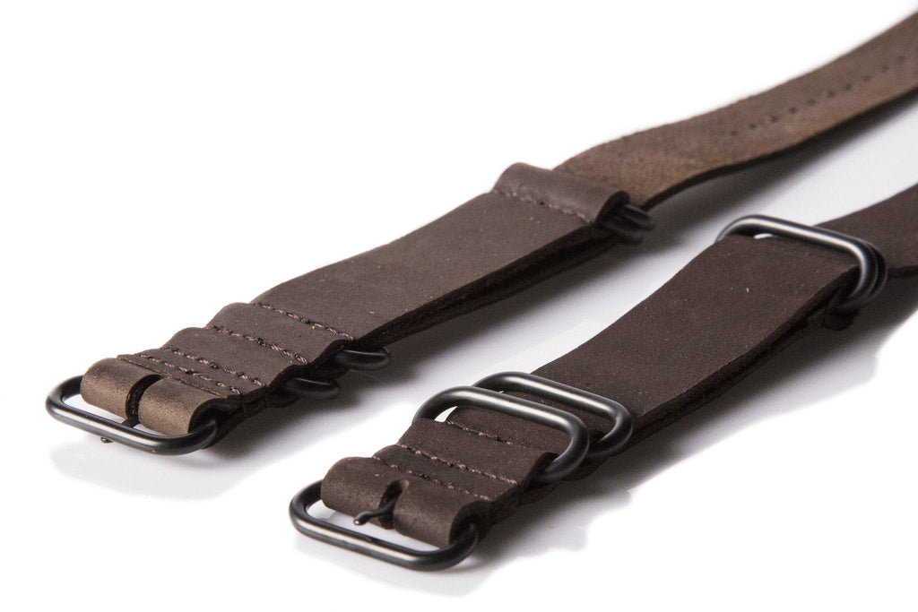 Leather PVD Zulu Strap Matte Brown - Cheapest NATO Straps  - 2