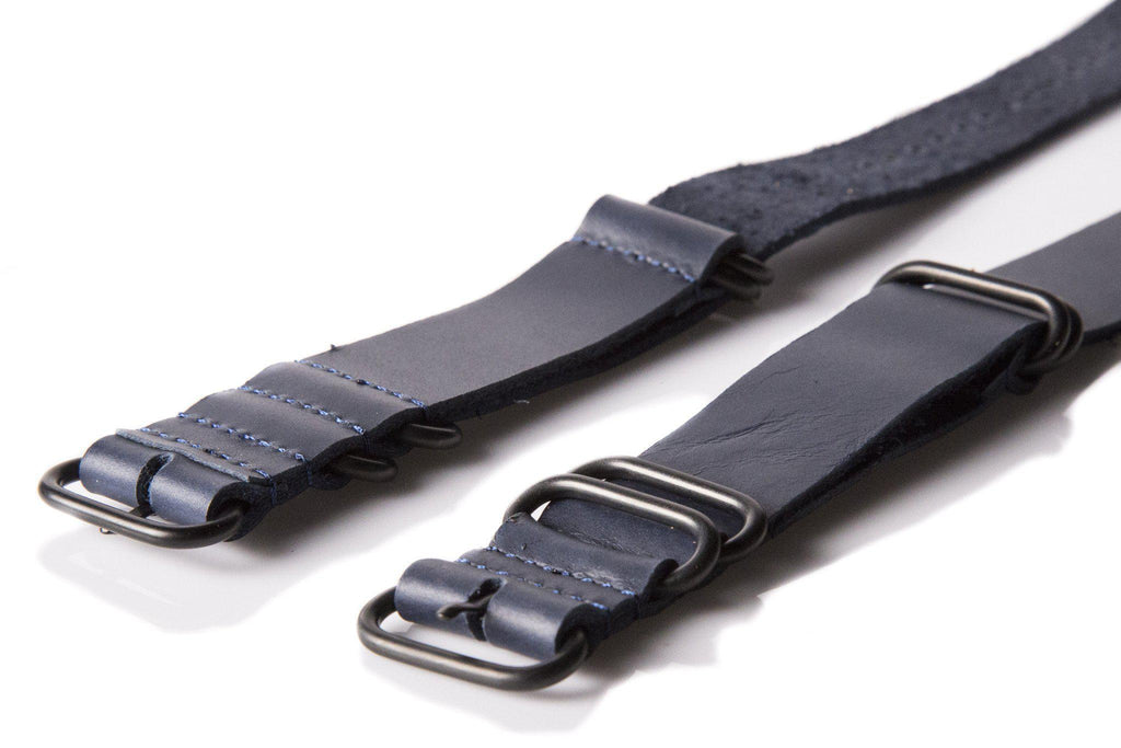 Leather PVD Zulu Strap Midnight - Cheapest NATO Straps  - 2
