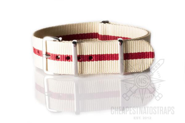 NATO Regimental Strap Beige and Red