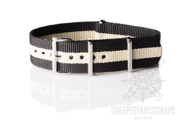 NATO Regimental Strap Black and Beige