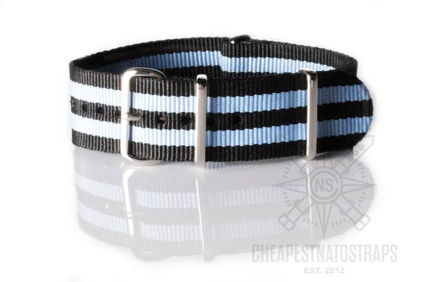 NATO Regimental Strap Black and Blue