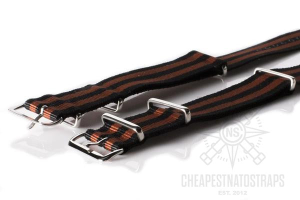 NATO Regimental Strap Black and Bronze