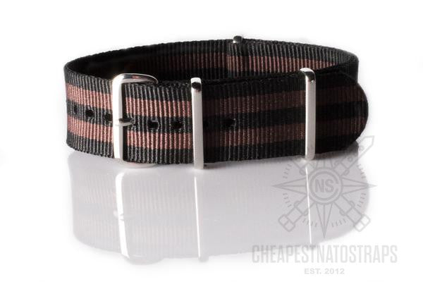 NATO Regimental Strap Black and Coffee