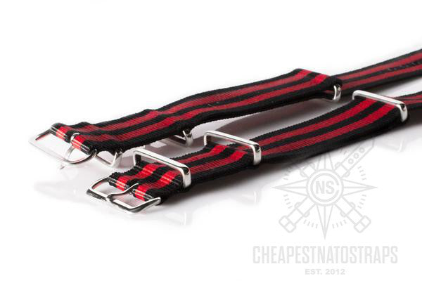NATO Regimental Strap Black and Red