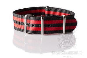 NATO Strap Black and Red