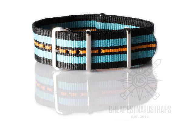 NATO Regimental Strap Black, Blue, Black and Orange