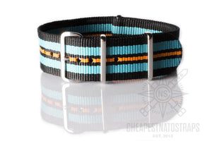 NATO Strap Black, Blue and Orange