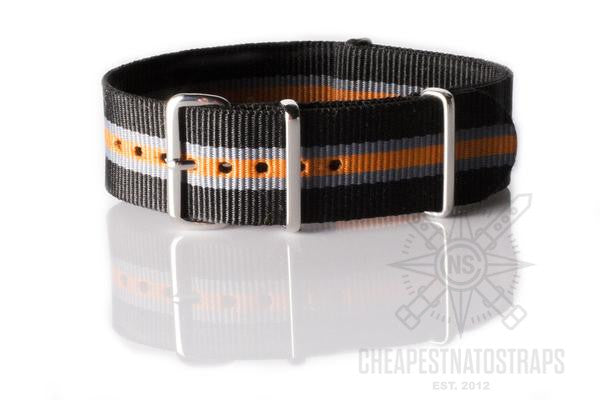 NATO Strap Black, Gray and Orange