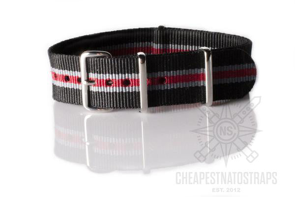 NATO Regimental Strap Black, Gray and Red