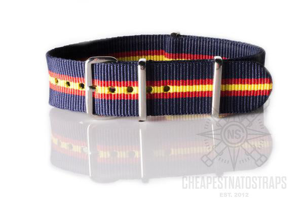 NATO Regimental Strap Blue, red and yellow