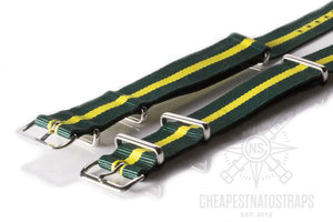 NATO Strap British Racing Green and Yellow