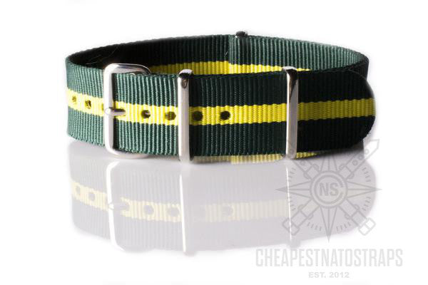 NATO Regimental Strap British Racing Green and Yellow