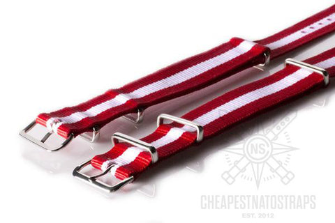 NATO Regimental Strap Canada, Red and White