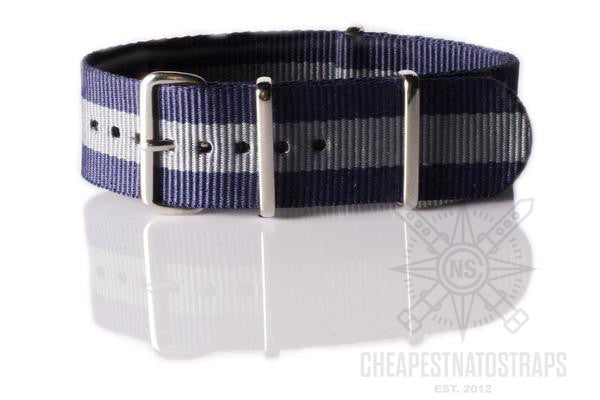 NATO Regimental Strap Navy and Gray