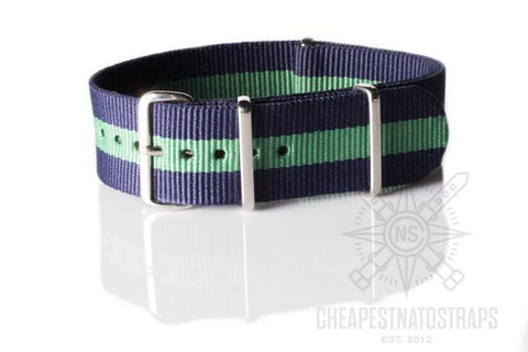 NATO Regimental Strap Navy and Green