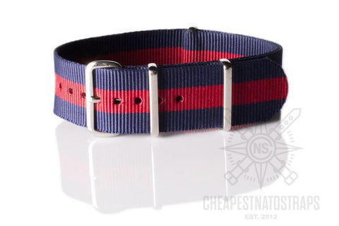 NATO Regimental Strap Navy and Red