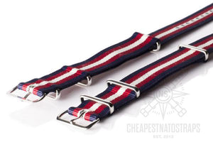 NATO Strap Navy, Red and Beige