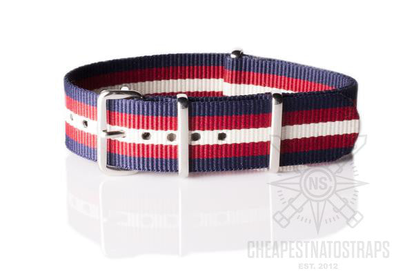 NATO Regimental Strap Navy, Red and Beige