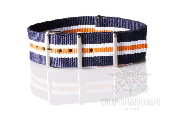 NATO Strap Navy, White and Orange
