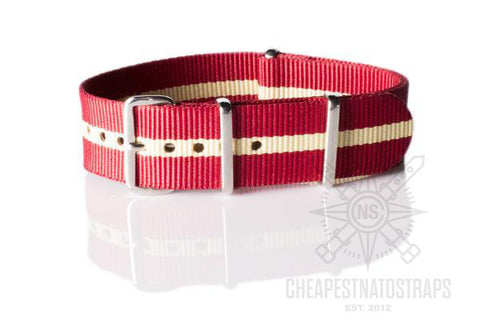 NATO Regimental Strap Red and Beige