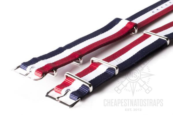 NATO Regimental Strap Red, White and Navy