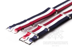 NATO Strap Red, White and Navy