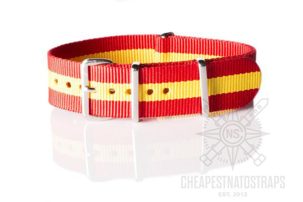 NATO Regimental Strap Spain, Red and Yellow