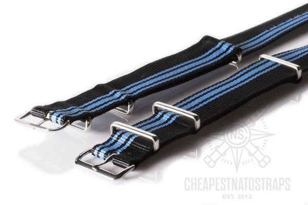 NATO Regimental Strap Blue Ducati stripe