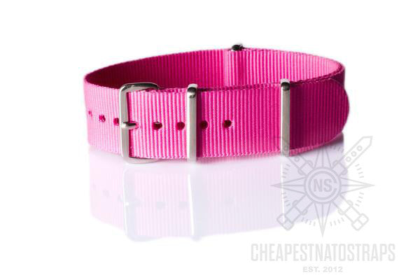 NATO Strap Solid Neon Pink