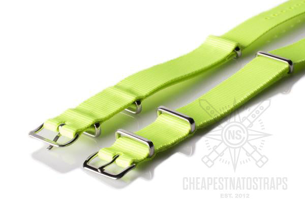 NATO Strap Solid Neon Yellow
