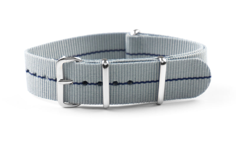 NATO Strap Marine Nationale Gray and Navy Blue (20 & 22 mm)