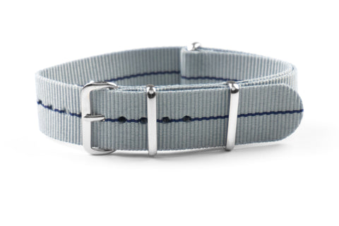 NATO Strap Marine Nationale Gray and Navy Blue
