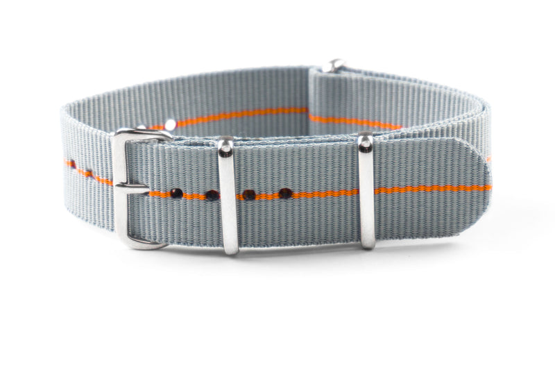 NATO Strap Marine Nationale Gray and Orange (18, 20 & 22 mm)