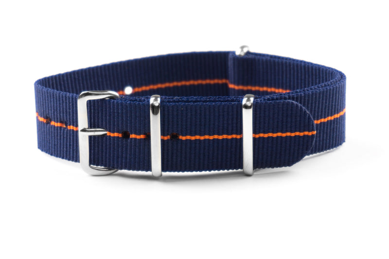 NATO Strap Marine Nationale Navy and Orange (18, 20 & 22 mm)