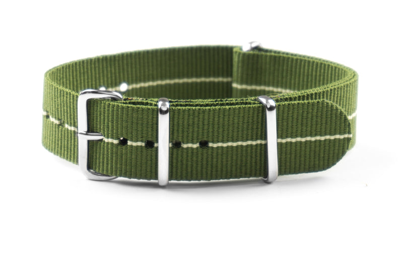NATO Strap Marine Nationale Khaki Green and Beige (20 & 22 mm)