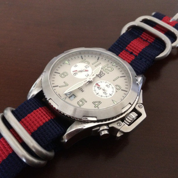 Zulu strap SS 5-ring Navy and Red - Cheapest NATO Straps  - 3
