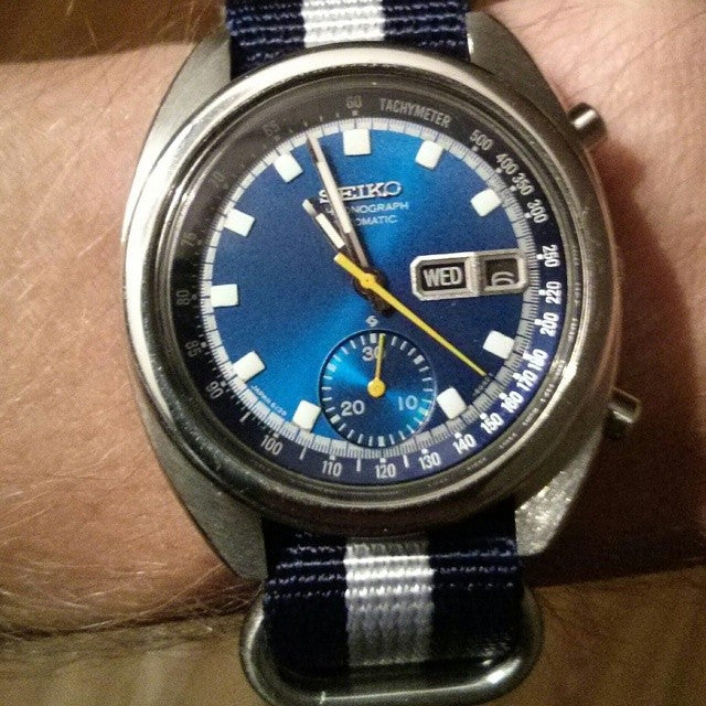 Zulu strap SS 5-ring Navy and White - Cheapest NATO Straps  - 7