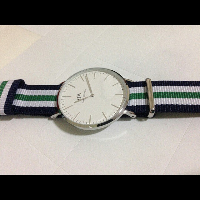 Premium Original NATO Strap Navy, White and Green - Cheapest NATO Straps  - 5