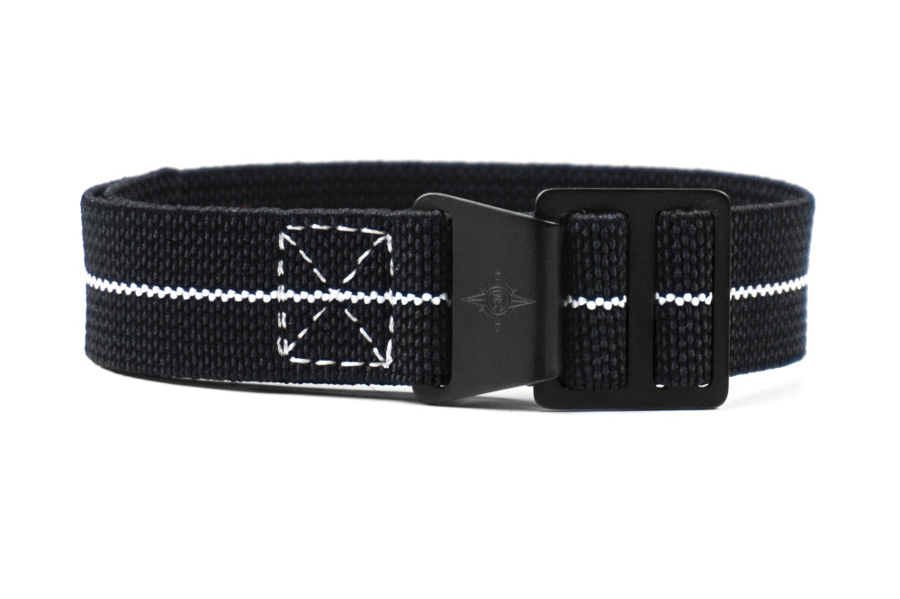 Paratrooper PVD Strap Black and white
