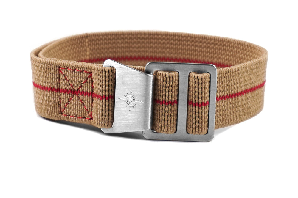 Paratrooper Strap Khaki and Red