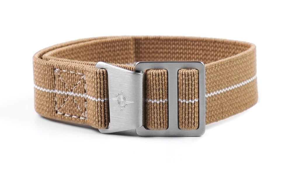 Paratrooper Strap Khaki and White