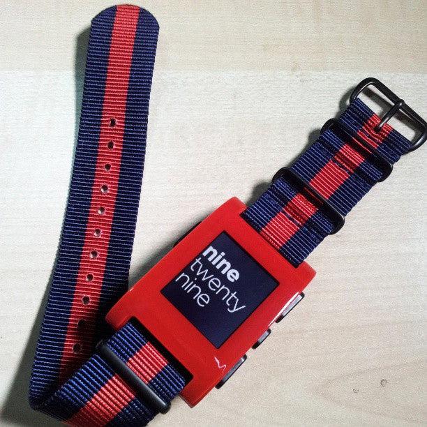Extra Long PVD NATO Strap Navy and Red - Cheapest NATO Straps  - 4
