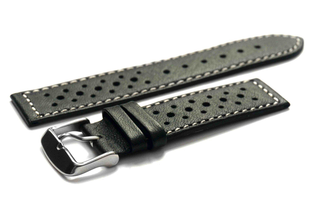Monte Carlo Black with white stitching - Cheapest NATO Straps  - 1